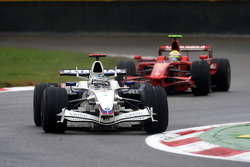 Nick Heidfeld, BMW Sauber F1 Team, F1.08 leads Felipe Massa, Scuderia Ferrari, F2008