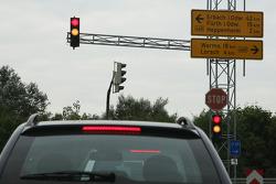 Sebastian Vettel's home town visit in Heppenheim, Germany: road signs