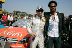 Mathias Lauda and actor Garry Dourdan from CSI Las Vegas