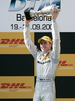 Podium: race winner Paul di Resta celebrates