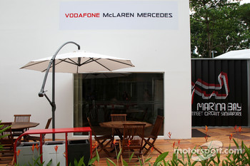 The team area for McLaren Mercedes