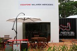 The team area for McLaren Mercedes