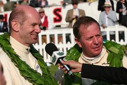 Tourist Trophy race podium: Martin Brundle/Adrian Newey