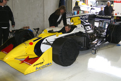 Joachim Ryschka, checking up the Scuderia Grifo Corse entered IRL G-Force Chevy 3.5 V8