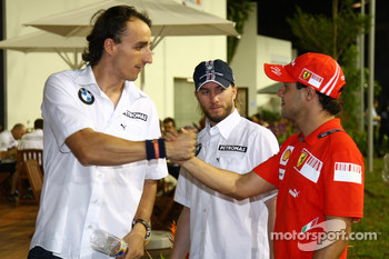 Robert Kubica,  BMW Sauber F1 Team, Nick Heidfeld, BMW Sauber F1 Team and Felipe Massa, Scuderia Ferrari