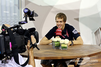 Sebastian Vettel giving an interview
