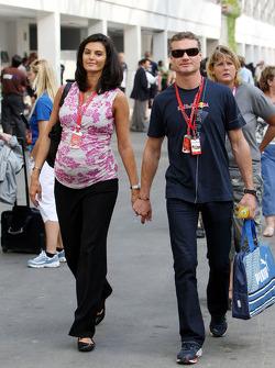 Karen Minier, Fiancée of David Coulthard, David Coulthard, Red Bull Racing