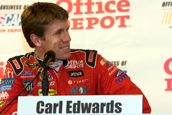 Carl Edwards and Jack Roush announce Their small Business winner