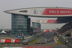 Lewis Hamilton, McLaren Mercedes leads the parade lap