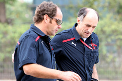 Gerhard Berger and team principal Franz Tost