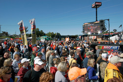 Fans fill into the Speedway prior to the race