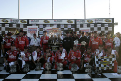 Victory lane: race winner Carl Edwards with his team