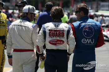 Buddy Rice, Dan Wheldon and Townsend Bell