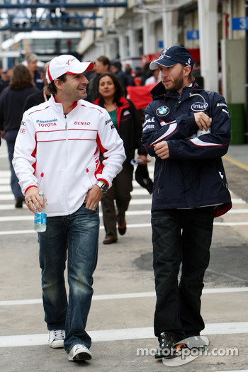 Timo Glock, Toyota F1 Team, Nick Heidfeld, BMW Sauber F1 Team