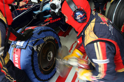 Scuderia Toro Rosso crew members in the garage