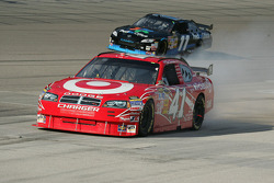 Reed Sorenson Target Dodge smokes coming into the pit lane