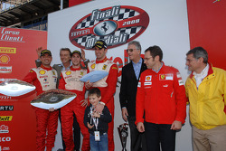 Sunday Trofeo Pirelli race: the podium