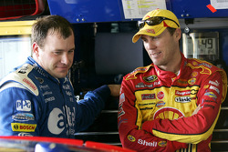Ryan Newman talks with Kevin Harvick
