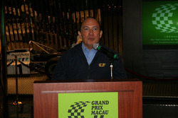Macau Grand Prix Museum: engineer Costa Antunes at the 15th Anniversary of the Macau Grand Prix Museum