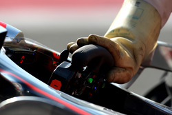 Rubber Gloves warn by the mechanics of Gary Paffett, Test Driver, McLaren Mercedes, due to KERS