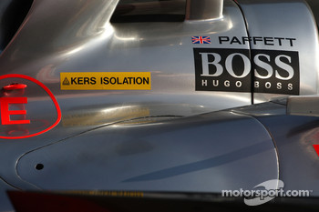 Gary Paffett, Test Driver, McLaren Mercedes, sticker for KERS