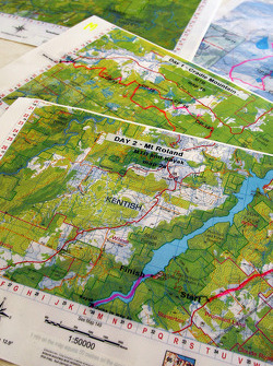 Launceston, Australia: course maps are seen