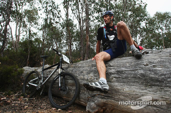 Launceston, Australia: Mark Webber in action