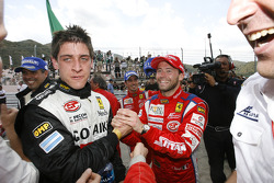 GT2 class winner Matias Russo celebrates with Thomas Biagi