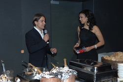 WTCC driver Augusto Farfus with Moderator Khadra Sufi