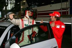 500 Abarth Assetto Corse, Renato Travaglia and Luca Badoer, Test Driver Scuderia Ferrari