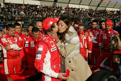 Luca Badoer, Test Driver Scuderia Ferrari and Belen Rodriguez, Mistress of ceremonies  2008