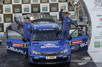 Podium: 4th place Petter Solberg and Phil Mills