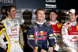 Jason Plato, David Coulthard, Tom Kristensen and Mattias Ekström