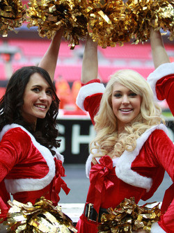 Grid girls in the Christmas spirit