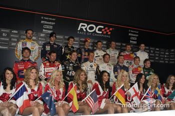 Race of Champions drivers pose for a group photo