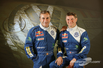 Volkswagen Motorsport: driver Carlos Sainz and co-driver Michel Périn