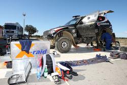X-raid team: the #313 BMW X3 CC of Miguel Barbosa and Miguel Ramalho