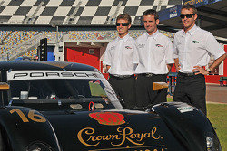 Penske Racing Crown Royal Cask No. 16 announcement: Ryan Briscoe, Romain Dumas and Timo Bernhard