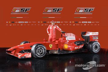Felipe Massa with the new Ferrari F60