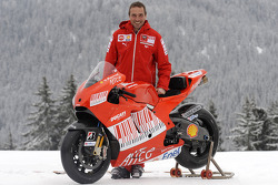Livio Suppo with the new Ducati Desmosedici GP9