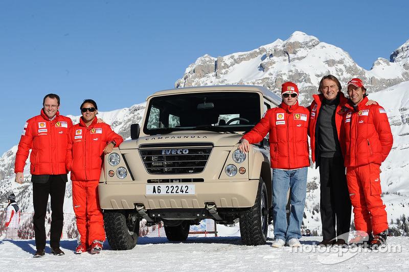 Stefano Domenicali, Felipe Massa, Kimi Raikkonen, Luca di Montezemolo and Luca Badoer