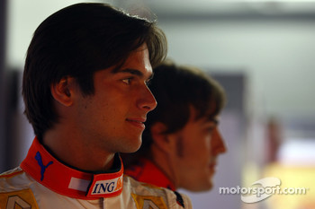 Nelson A. Piquet and Fernando Alonso