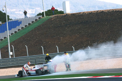 Timo Glock, Toyota F1 Team stop on track with the new TF109