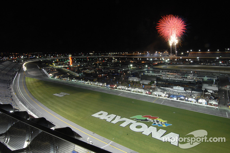 Fireworks over Daytona International Speedway