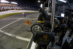 Penske Racing team members ready for a pit stop