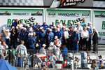 DP victory lane: David Donohue, Antonio Garcia, Darren Law, Buddy Rice celebrate with team