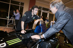 Dario Franchitti and Honda Assistant Vice President Public Relations Kurt Antonius