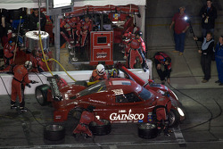 Pit stop for #99 GAINSCO Bob Stallings Racing Pontiac Riley: Jon Fogarty, Alex Gurney, Jimmie Johnson, Jimmy Vasser