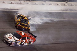 David Ragan and Robby Gordon spin in turn four