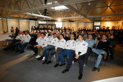 Peugeot Sport drivers and team members during the presentation